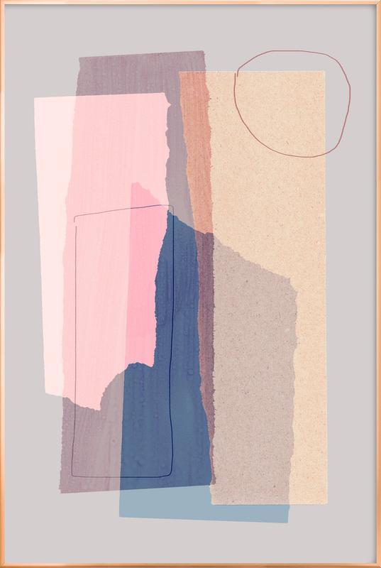 Pieces 5A -Poster im Alurahmen