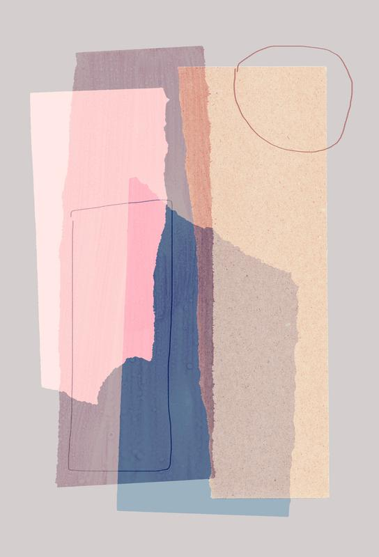 Pieces 5A -Acrylglasbild
