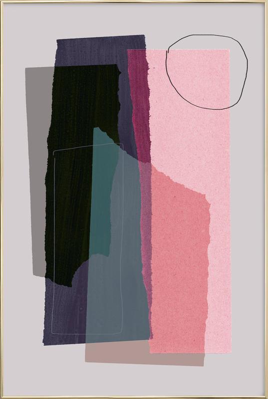 Pieces 5C -Poster im Alurahmen