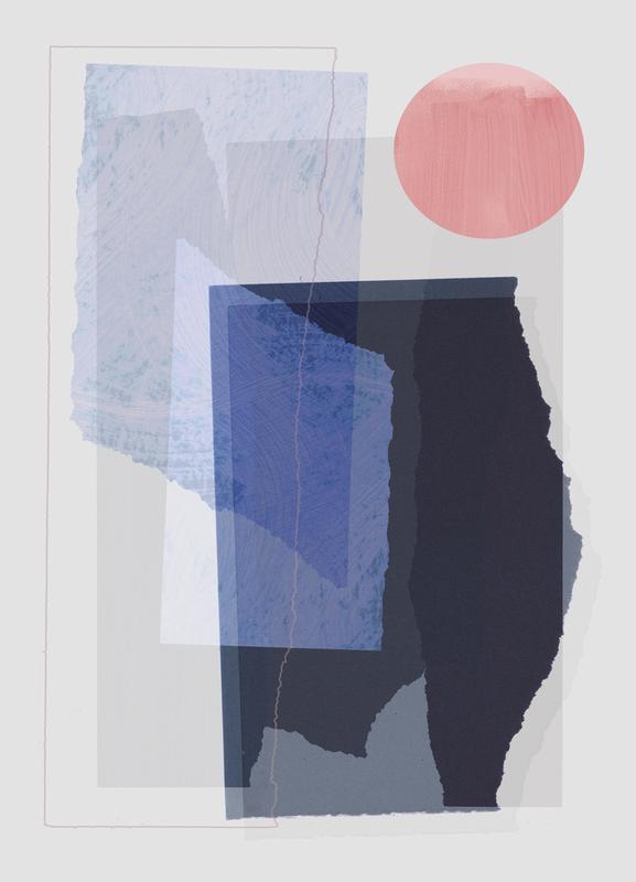 Pieces 10A -Leinwandbild
