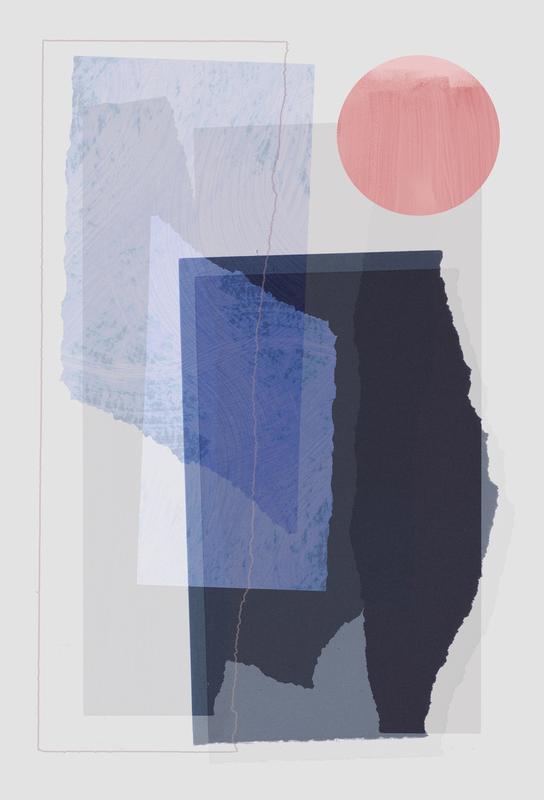 Pieces 10A -Acrylglasbild