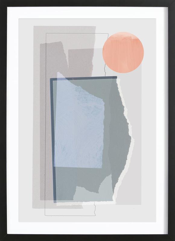 Pieces 10B -Bild mit Holzrahmen