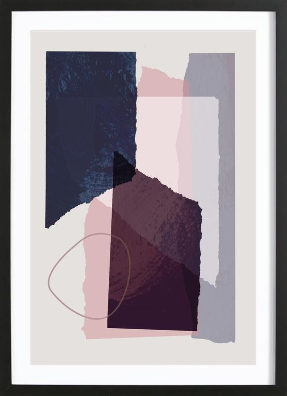 Pieces 12 -Bild mit Holzrahmen