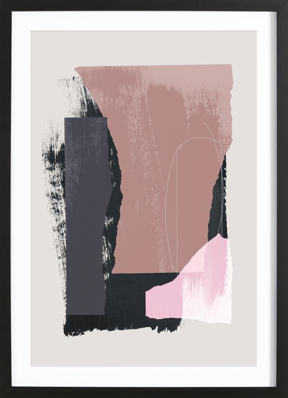 Pieces 14 ingelijste print