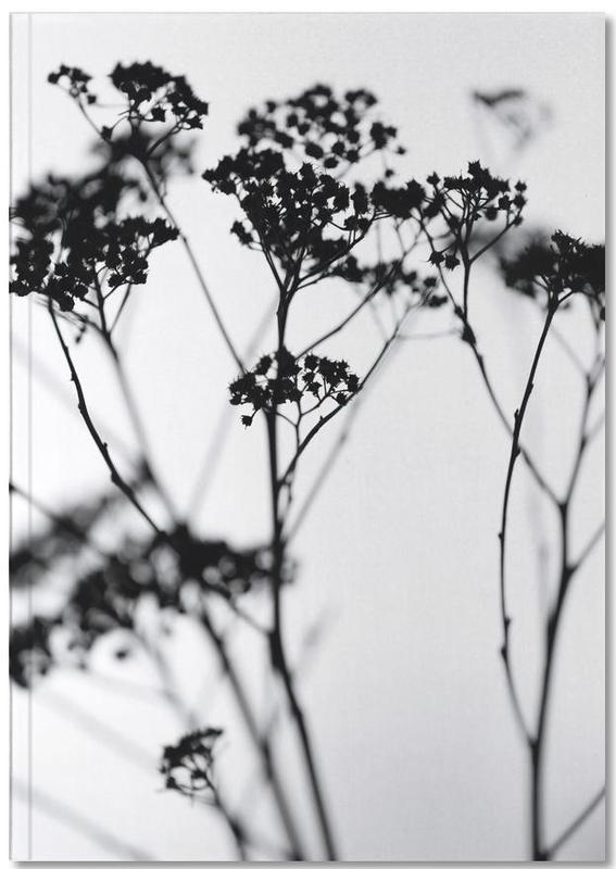 Black & White, Leaves & Plants, Silhouettes 4 Notebook
