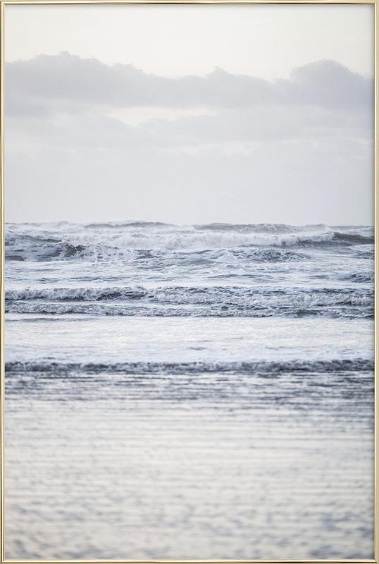 The Sea -Poster im Alurahmen