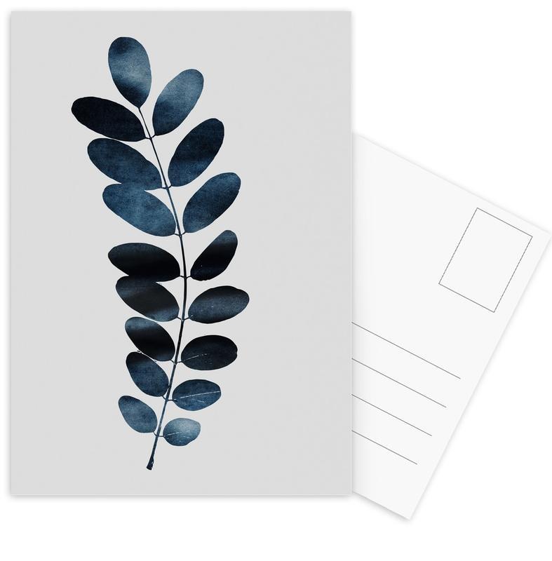 Watercolor Leaves 11 -Postkartenset