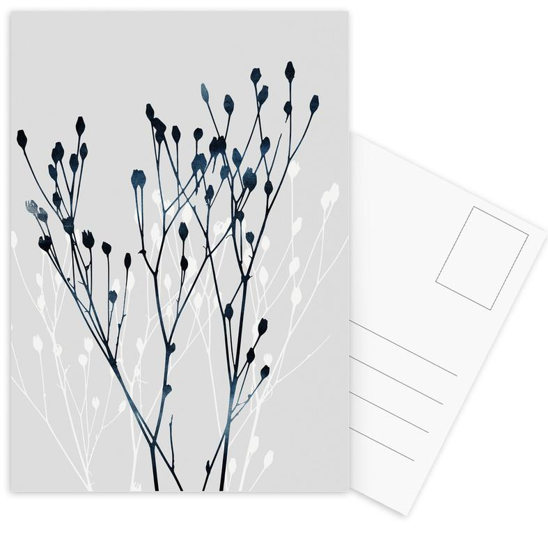 Watercolor Leaves 12 Postcard Set