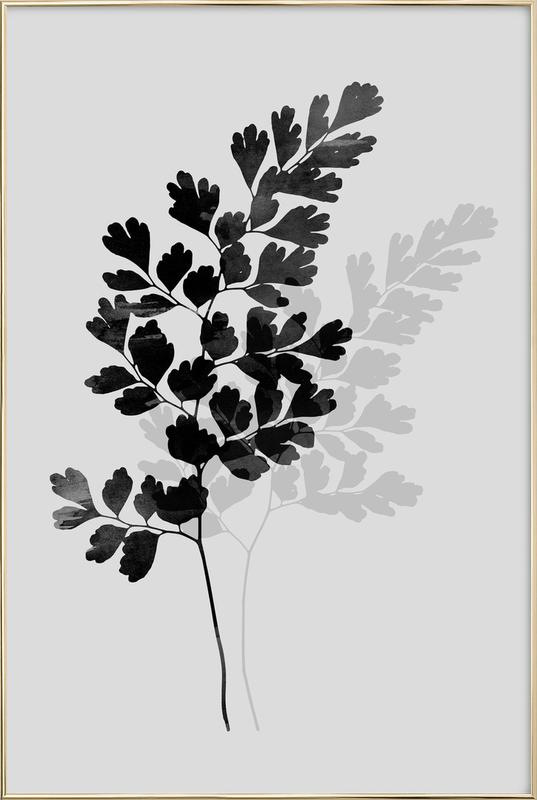 Watercolor Leaves 14 -Poster im Alurahmen