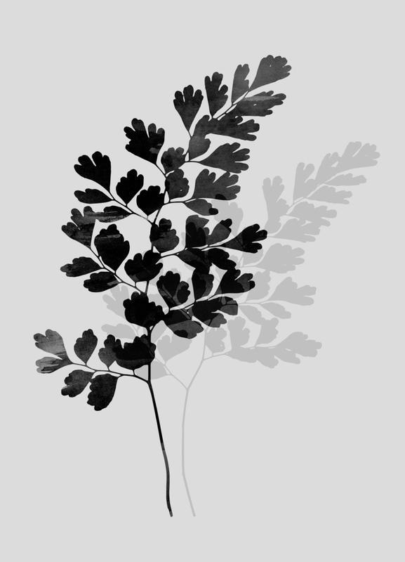 Watercolor Leaves 14 -Leinwandbild