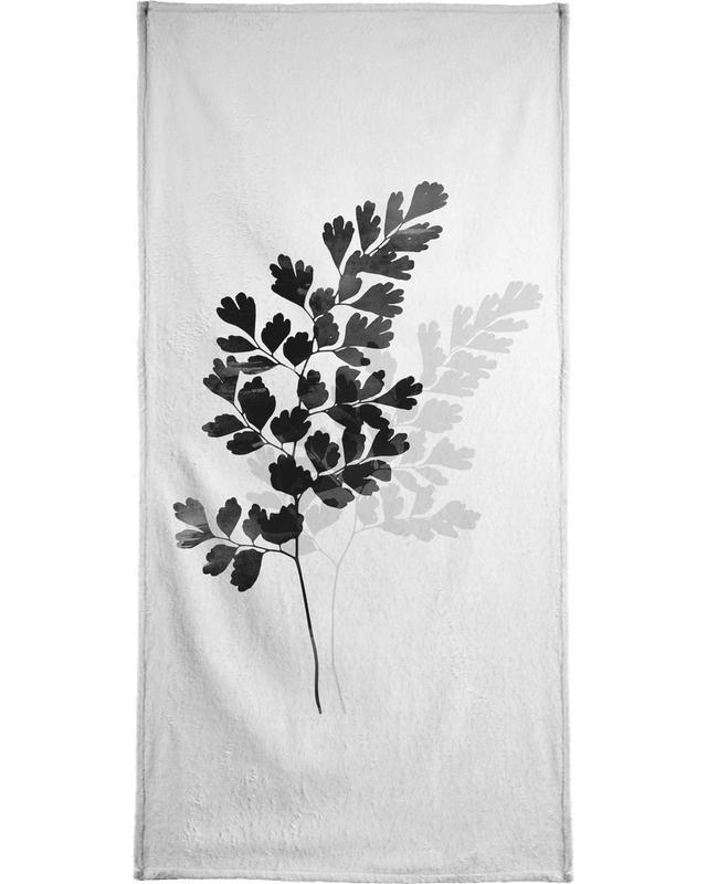 Watercolor Leaves 14 Bath Towel