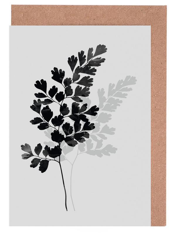 Watercolor Leaves 14 -Grußkarten-Set
