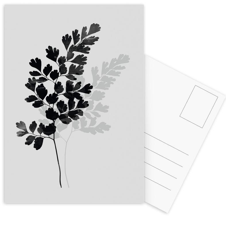 Watercolor Leaves 14 Postcard Set