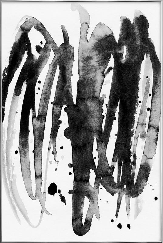 Watercolor Leaves 14A -Poster im Alurahmen