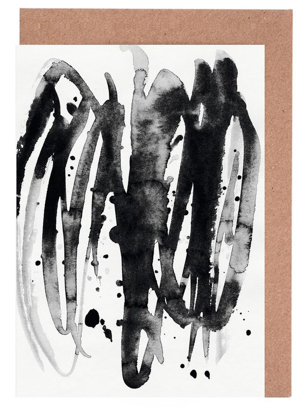 Watercolor Leaves 14A -Grußkarten-Set