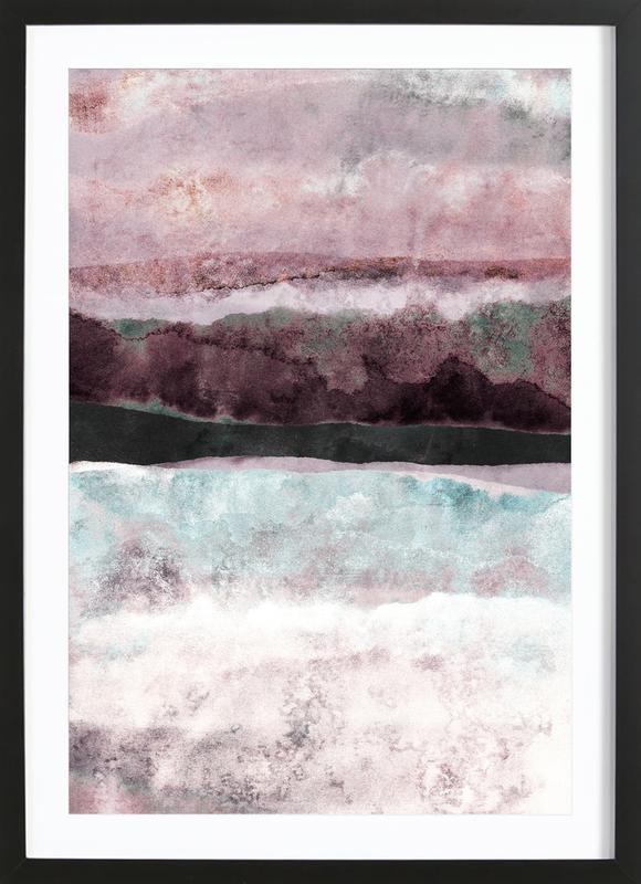 Watercolors 24 affiche sous cadre en bois