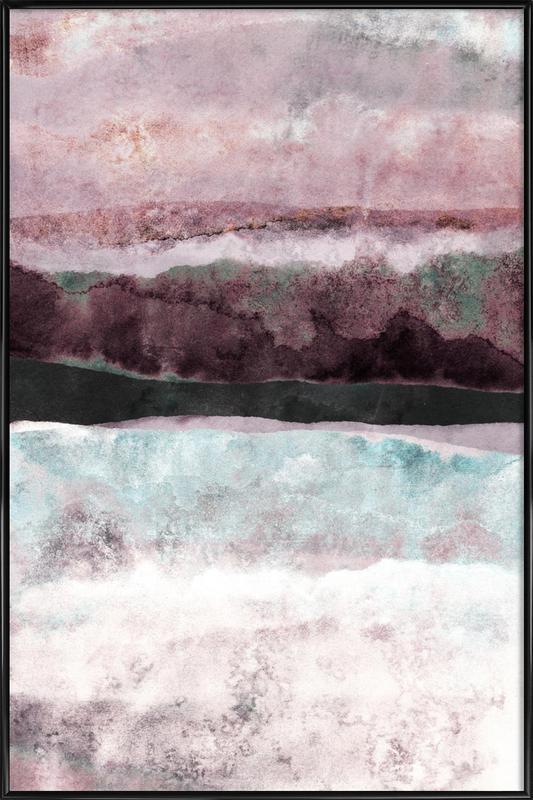 Watercolors 24 -Bild mit Kunststoffrahmen