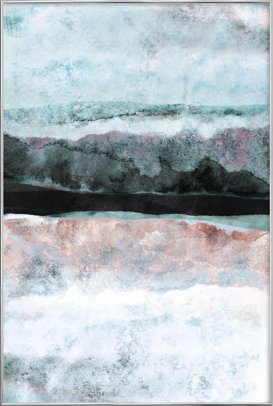 Watercolors 24X poster in aluminium lijst
