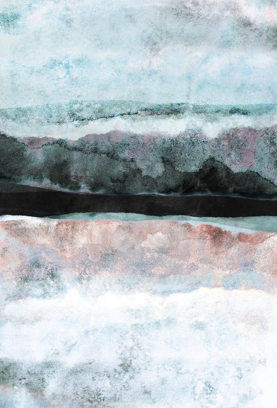 Watercolors 24X tableau en verre