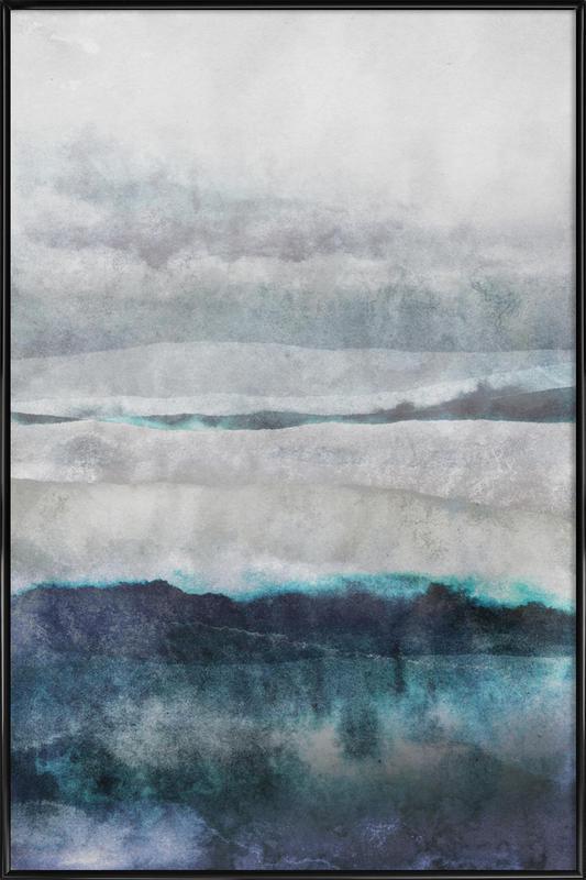 Watercolors 29 -Bild mit Kunststoffrahmen