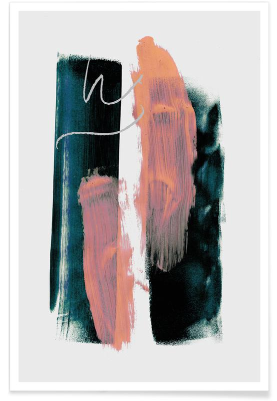 , Abstract Brush Strokes 3X Poster