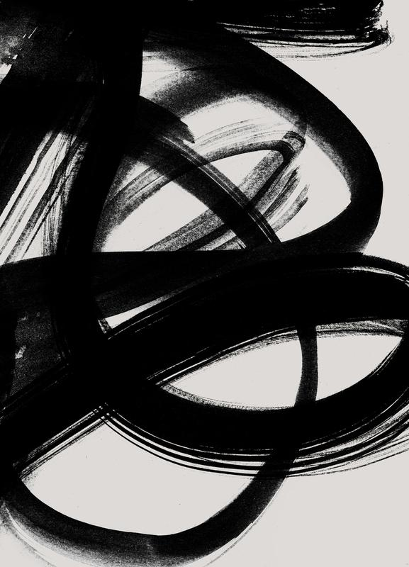 Abstract Brush Strokes 5 -Leinwandbild