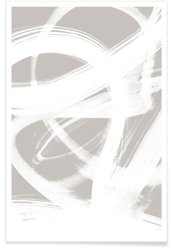 Abstract Brush Strokes 6 poster