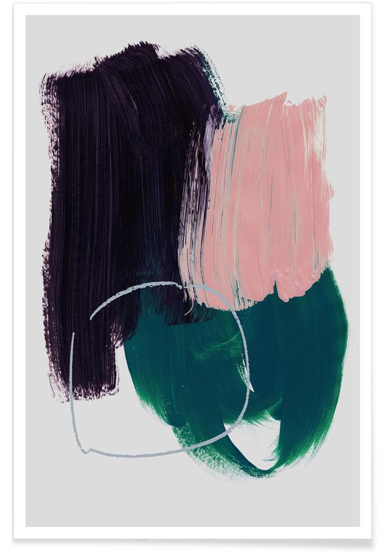 Abstract Brush Strokes 10 affiche