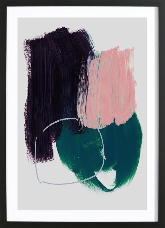 Abstract Brush Strokes 10 Poster i träram