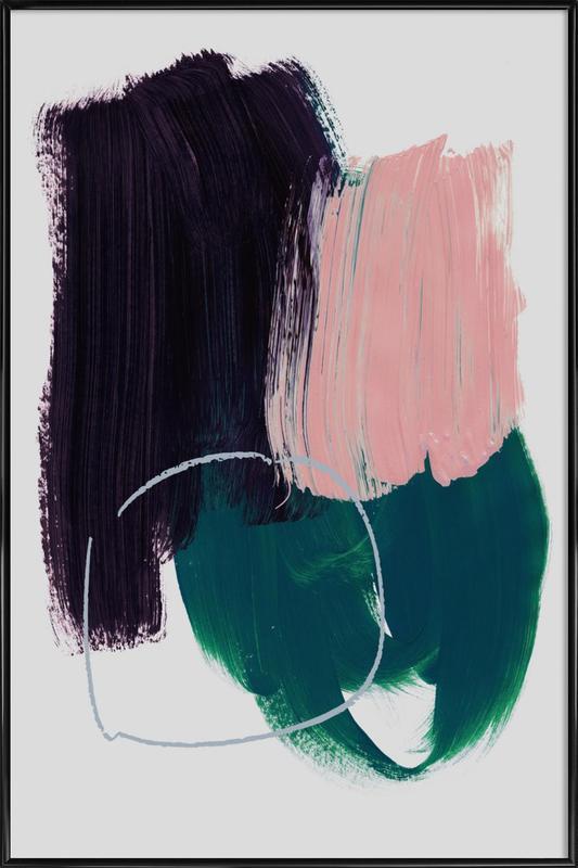 Abstract Brush Strokes 10 Framed Poster