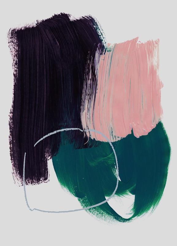 Abstract Brush Strokes 10 -Leinwandbild