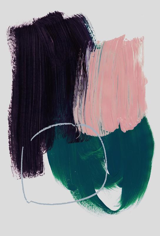 Abstract Brush Strokes 10 Akrylglastavla