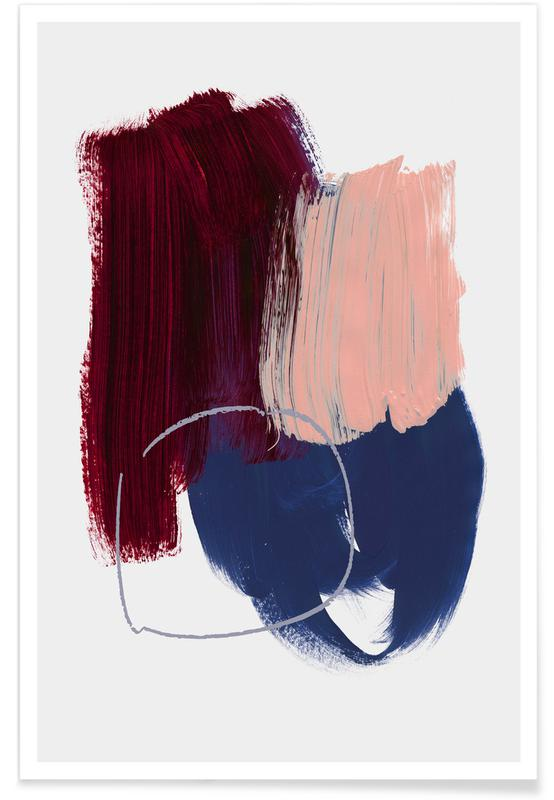 Abstract Brush Strokes 10X poster