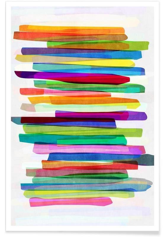 , Colorful Stripes 1 affiche