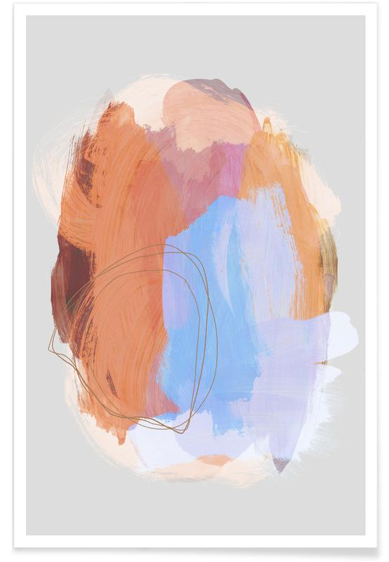, Abstract Brush Strokes 38 affiche