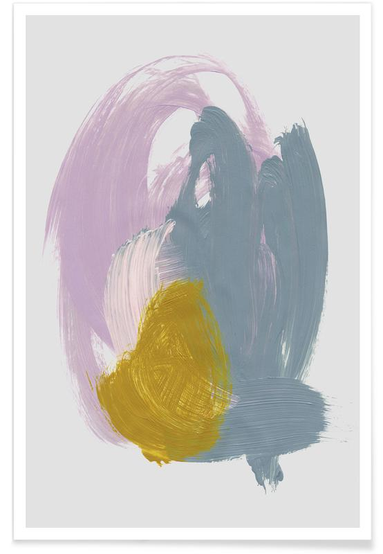 , Abstract brush strokes 39 poster