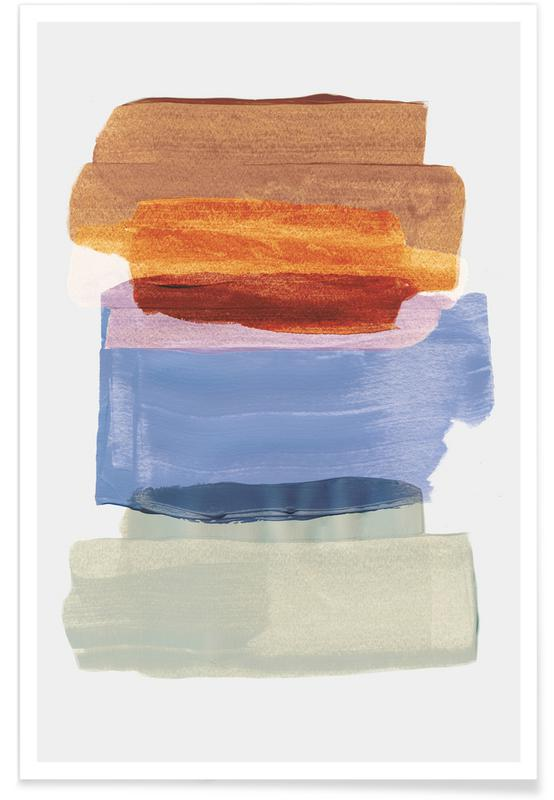 , Abstract Brush Strokes 49 -Poster