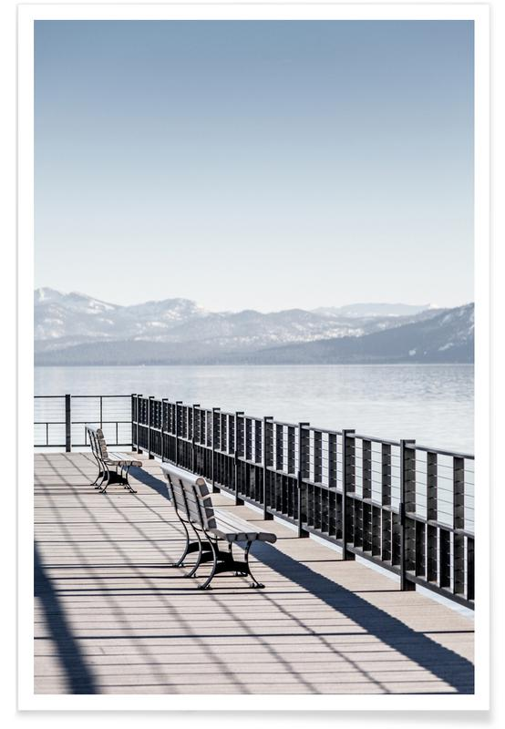 , Two Benches Poster