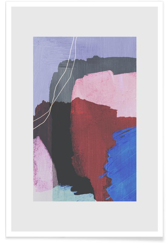 , Abstract Brush Strokes 53 -Poster