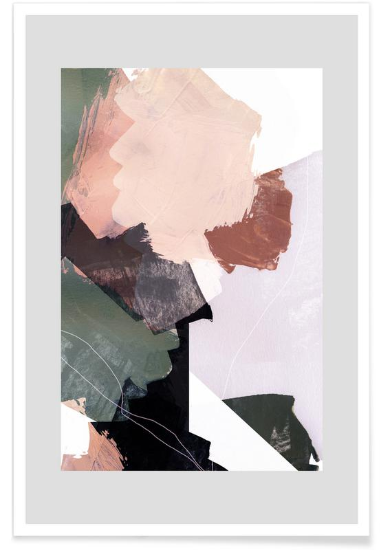 , Abstract Brush Strokes 27 -Poster