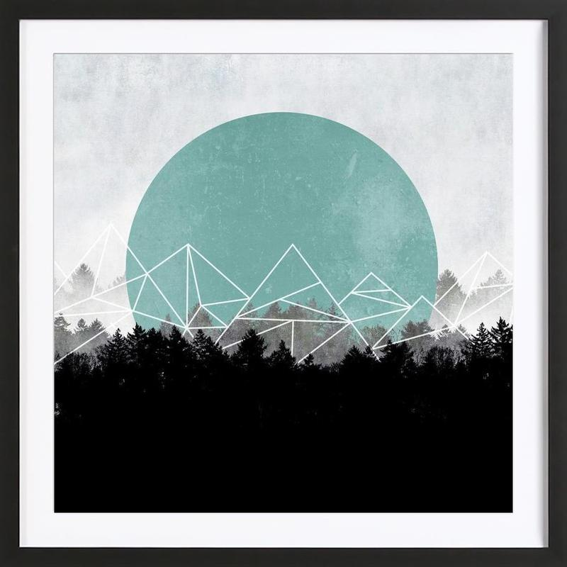 Woods Abstract 2 -Bild mit Holzrahmen
