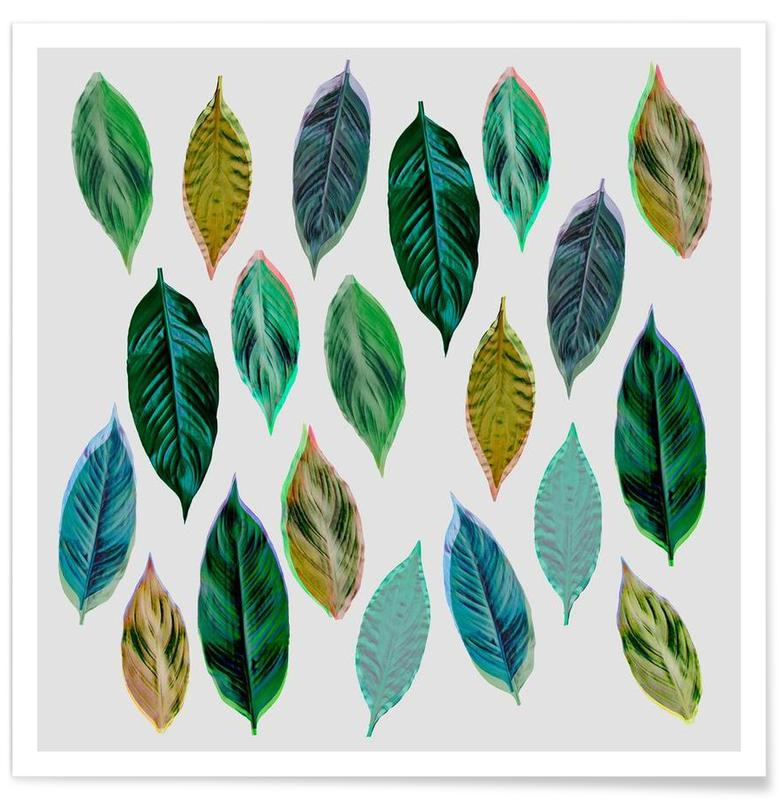 Feuilles & Plantes, Green Leaves 2 affiche
