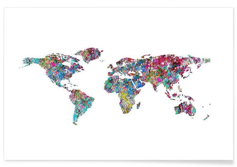 Cartes du monde, World of Leaves affiche