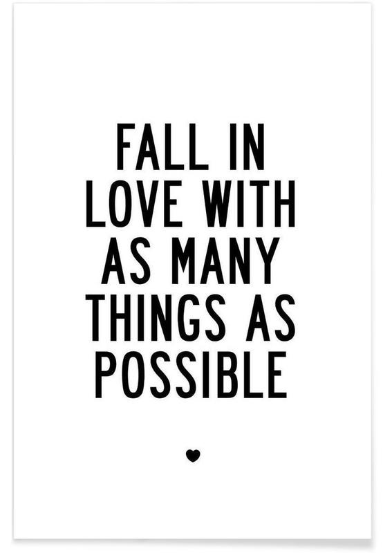 Fall In Love With As Many Things As Possible affiche