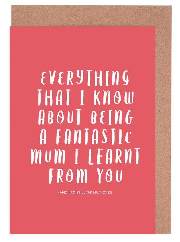 Everything I Know Greeting Card Set