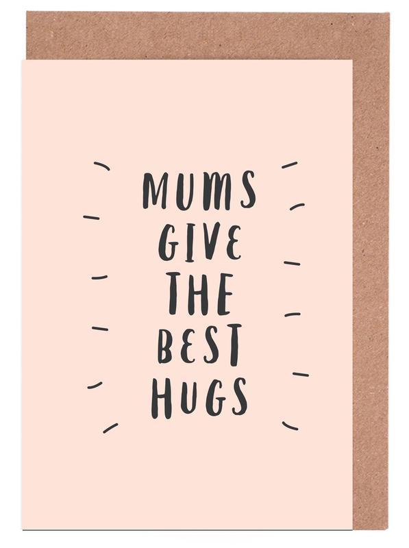 Mums Give The Best Hugs cartes de vœux