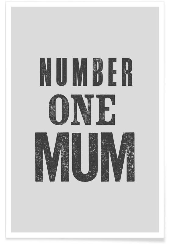 Number One Mum poster