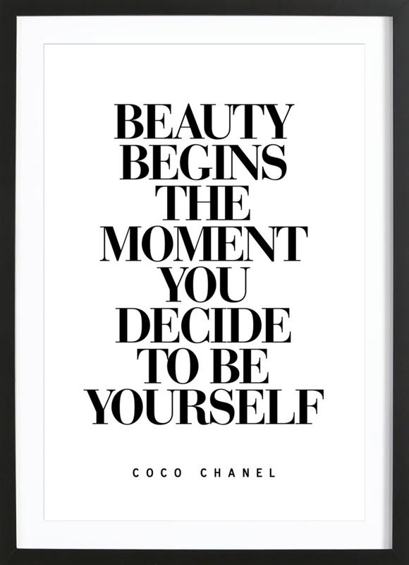 Beauty Begins ingelijste print
