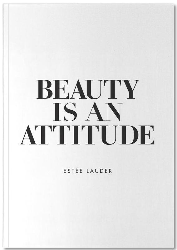 Black & White, Quotes & Slogans, Motivational, Beauty Is Notebook
