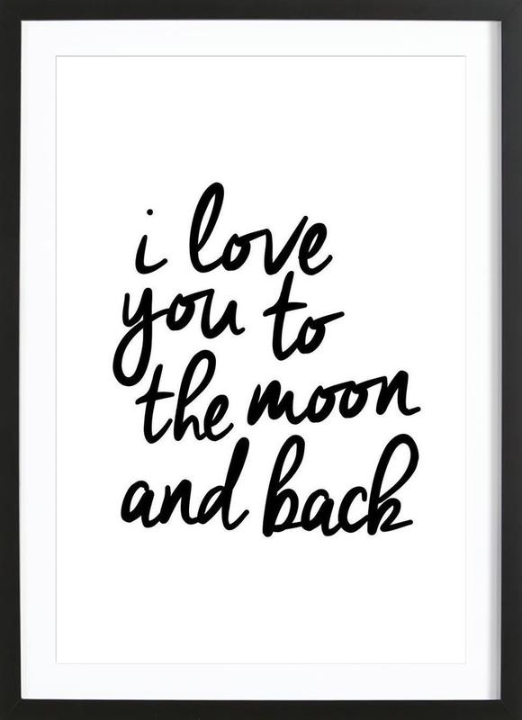 I Love You to the Moon and Back -Bild mit Holzrahmen
